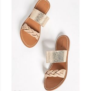 e265c8c68bc7 Soludos Shoes - Soludos • New • Metallic Braided Slide Sandal